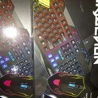 Bundling Keyboard Mouse dan MousePad Rexus VR-1 War Faction