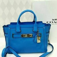harga Jual Tas Coach Swagger 27 Blue Azzure Original Asli Tokopedia.com