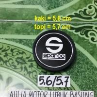 harga dop center / roda velg sparco hitam model racing kaki 5,6 cm (1 buah) Tokopedia.com