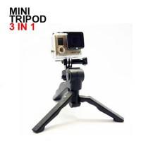 Mini Tripod Camera 3 in 1 for GoPro Hero SJCAM SJ4000 SJ5000 Xiaomi Yi