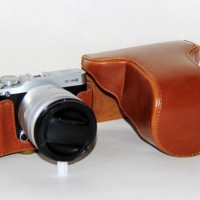 Jual Leather Case for Fujifilm X-M1/X-A2 - COKELAT Murah