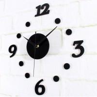 Jual Jam dinding dengan ukuran sangat besar / DIY 3D Wall Clock Black Dot Murah