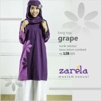 Atasan Busana Muslim Tunik Selutut Zarela Grape