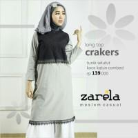 Atasa Busana Muslim Tunik Selutut Zarela Cracker