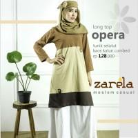 Atasan Busana Muslim Tunik Selutut Zarela Opera