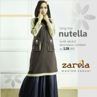 Atasan Busana Muslim Tunik Selutut Zarela Nutella