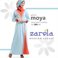 Gamis Busana Muslim Kaos Long Dress Zarela Moya