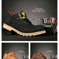 sepatu boots caterpillar pendek / safety shoes casual