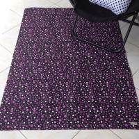 Karpet Kanvas / Canvas Rug - Bubble Ungu