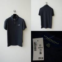 Polo Shirt Aeropostale - Charcoal A87 Tipped Logo Pique Original