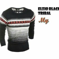 Sweater Rajutan Pria-Elzio black tribal