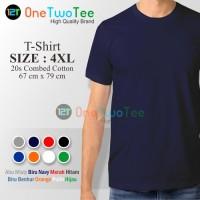 4XL (Jumbo Size) Kaos Oblong Polos Jumbo Super Big Size Katun