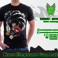 TSH068 - Kaos Elephant Gun Luffy