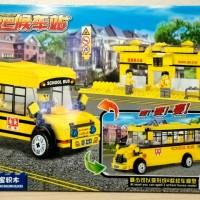 Lego Chaobao School Bus 2in1 ( Chao Bao 3232 ) Bus Sekolah & Halte