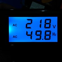AC Panel Voltmeter + Hertz Meter Alat Ukur Voltage Frequency Hz LCD