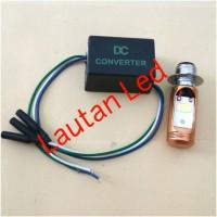 Paket Hemat..!!! 1 Pcs Lampu Led H6+1 Pcs Converter Dc