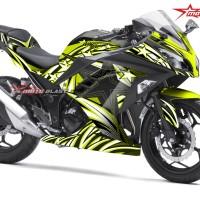 Ninja 250R Fi - BLACK STAR GREEN LIME