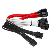NZXT 8 Pin to 8 Pin VGA Extension - 25cm - Black / Red / White