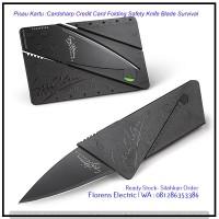 Pisau Kartu :Cardsharp Credit Card Folding Safety Knife Blade Survival