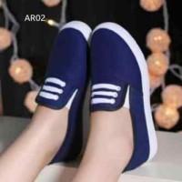 Kets Sneaker Murah Wanita Skl46 Biru Gelap / Sepatu Casual Wanita