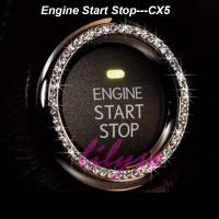 Engine Start Stop Cover Crome Mazda Cx5 2013/14/15/16