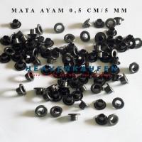 Eyelet Mata Ayam 5 mm Harga Per 100 pcs Hitam/Black Nikel