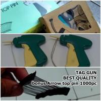 TAG GUN label + isi 1000 arrow pin taggun laundry alat tembak baju
