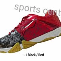 Sepatu Lining Bulutangkis / Badminton Glory Black/red