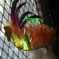 Mahkota Kepala Bulu HIas Rambut Aksesoris Tari Ayam Tradisional