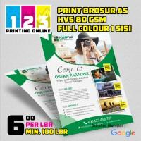 Brosur / Flyer Uk. A5 HVS 80 Gsm
