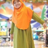 Gamis Hari Kids Hijau Daun / Hijab Alila Kids
