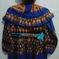 Gamis + jilbab batik anak