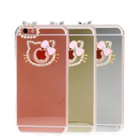 Cover Case Casing Iphone 5 / 5s / SE Mirror Hello Kitty Swarovski