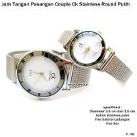 JAM CK STAINLESS PASIR ROUNDED WHITE COUPLE FULL SET