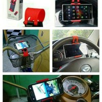 harga Car Holder handphone / dudukan hp / gps setir mobil mudah di pasang Tokopedia.com