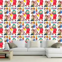 Wallpaper Dinding Custom Motif Islamic cartoon