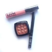 NYX Ori - Terra Cotta Blush, Glam Liner Black, Mega Shine Lip Gloss