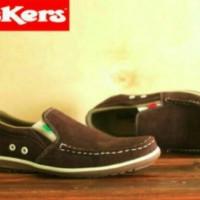 Sepatu Kickers Slip On Suede Brown Murah