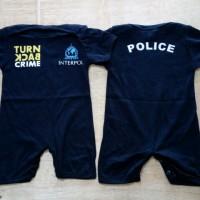 Jual Jumper / Romper Bayi Polisi Turn Back Crime Interpol Biru Murah