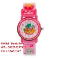 KT-25 Link'graphix BALLET - Jam Tangan Anak Cwek Girls Kids Watch PINK