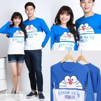 Baju Couple Lengan Panjang / Kaos pasangan Doraemon stand by me 10273