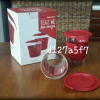TUPPERWARE TEAZ ME GLASS (2) WITH INNER BOX