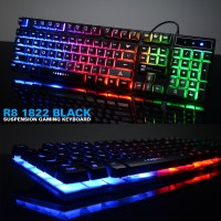 R8 1822 Bakclight Gaming Keyboard - Black