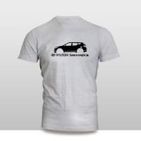 Jual KAOS BAJU DISTRO MOBIL - KAOS MOBIL Hyundai Santa Fe SILUET Murah