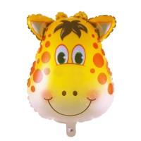 Harga balon foil kepala binatang 60 cm jerapah macan   antitipu.com