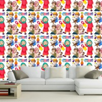 Wallpaper Dinding Custom Motif Cartoon Islamic