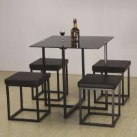 set meja makan hitam