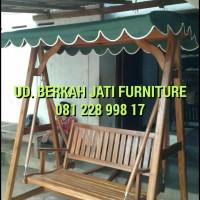 Ayunan Jati, Payung Taman, Lounger, Kursi Malas, Meja Magic