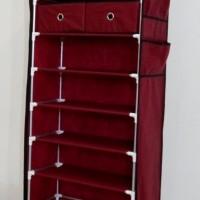 harga Anya-living Rsl 109 - 10t+2d - Shoe Rack - Maroon Tokopedia.com