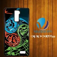Custom Casing HP OPPO R7 Plus Pokemon Symbol Z3789 Hardcase, Custom Ca